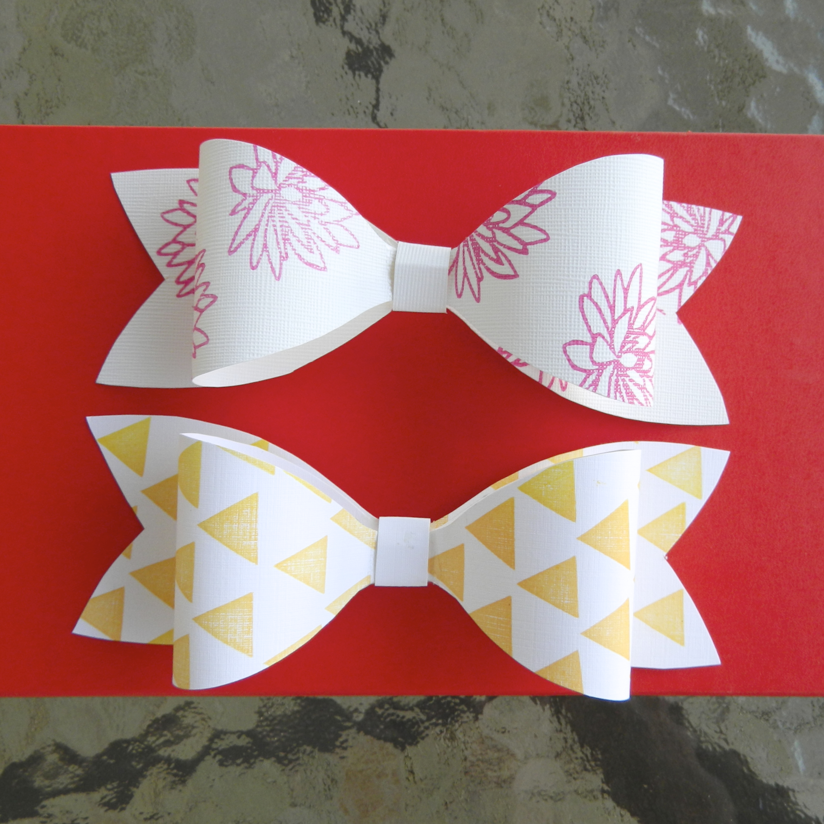 Diy gift bow make it take a bow leave your imprint creatiate blog diy stamped gift bow solutioingenieria Images